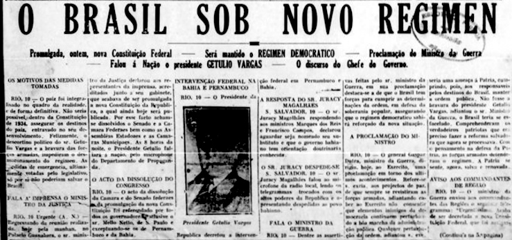 10 de novembro (1937) | 80 anos do Estado Novo | Blog da Editora Contexto